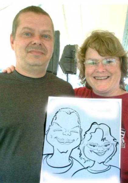 Dennis Porter Party Caricature