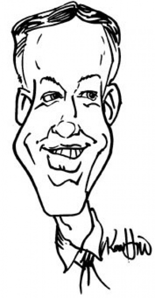 Ron Hill Party Caricature