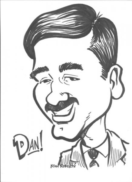 Kent Roberts Party Caricature