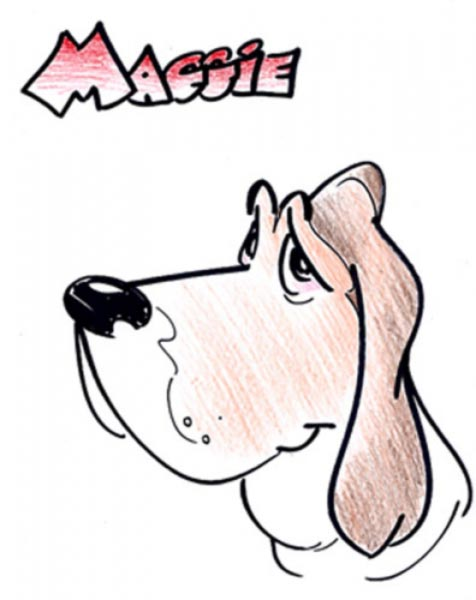 Dog Party caricature by Andrew Chandler
