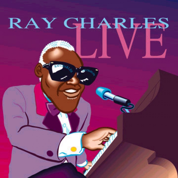 Dale Gladstone Party Caricature of Ray Charles