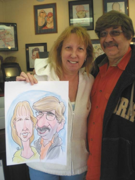 L Jay Patterson Party Caricature