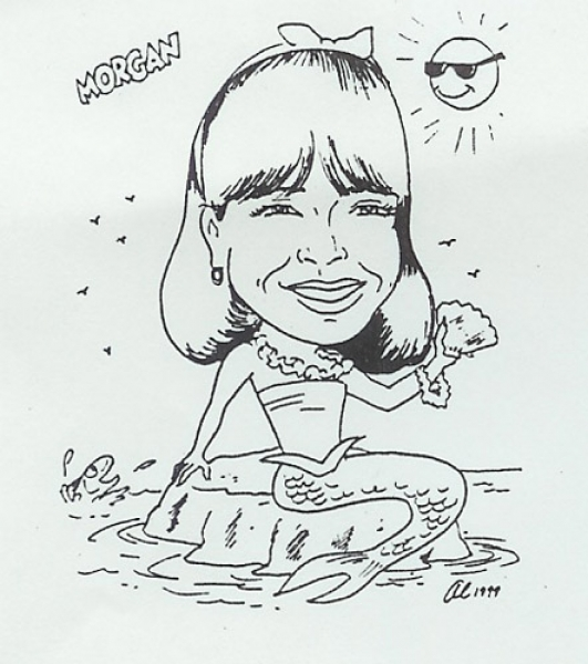 Al Wiesner Party Caricature