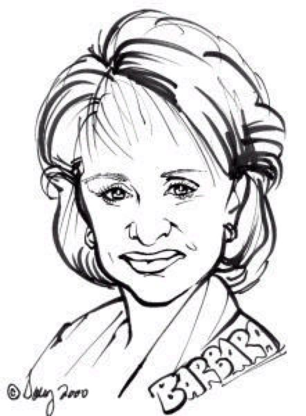 Party caricature by Sally Chase