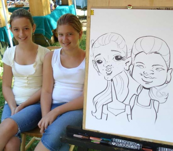 Diane Tucker Party Caricature