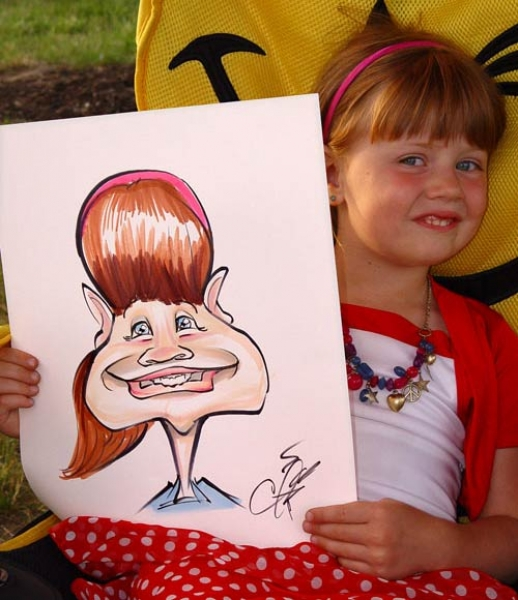 Chris Schroeder Party Caricature