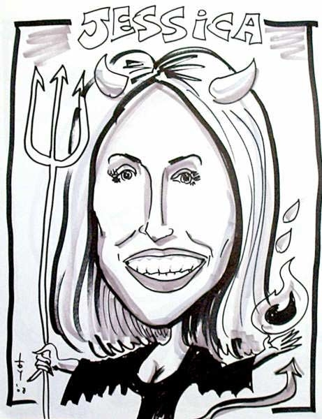 Bryan Toy Party Caricature
