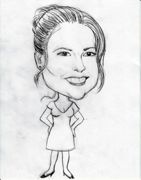 Jill Frazier Party Caricature