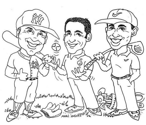 Marc Hughes Party Caricature