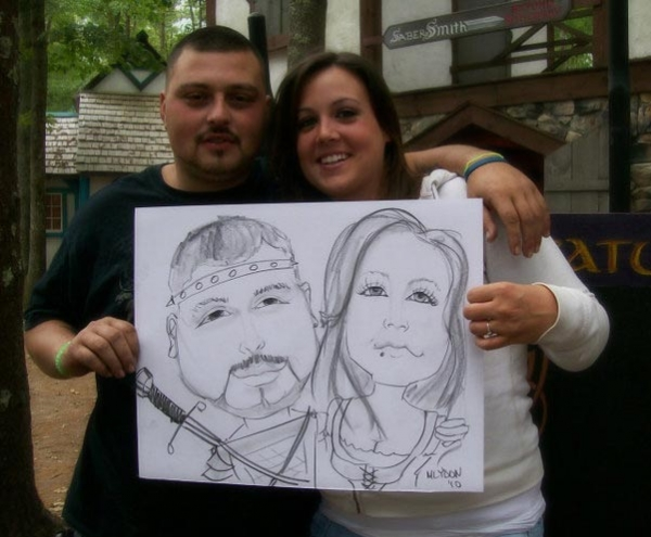 Michelle Lydon Party Caricature
