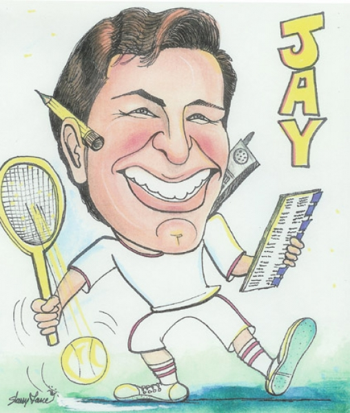 Sherry Lane Party Caricature