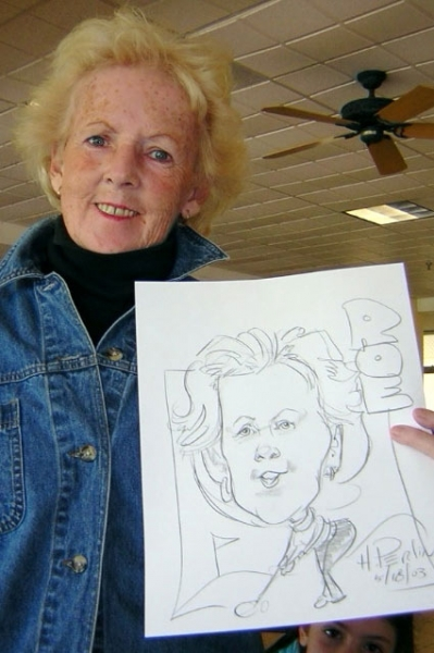 Howard Perlin Party Caricature