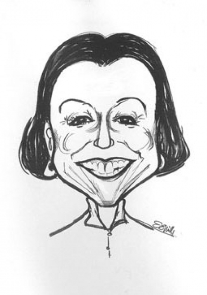 Elaine Mills Party Caricature