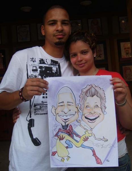 Kevin Fillie Party Caricature