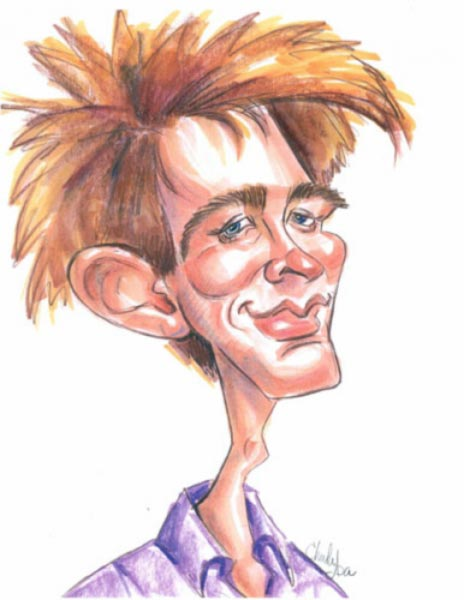 Party caricature by Lisa Chudya