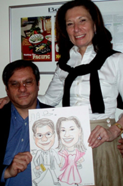 Chris Greene Party Caricature