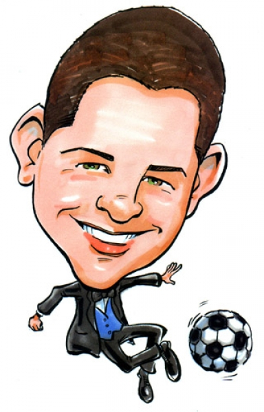 Devin Hunt Party Caricature