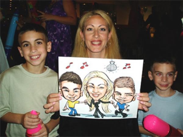 Aron Laikin Party Caricature