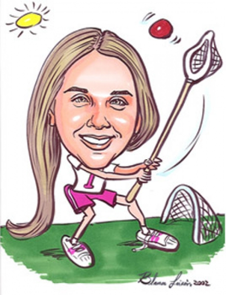 Blanca Laikin Party Caricature