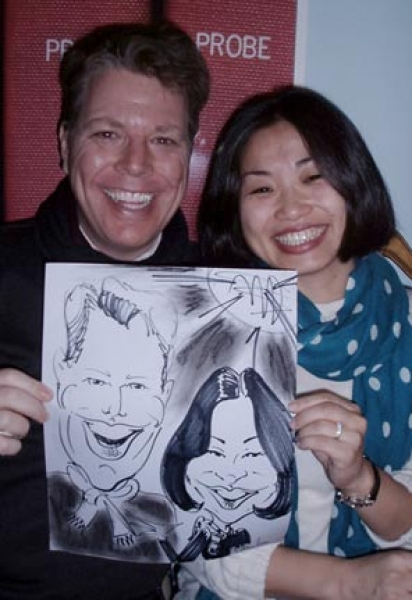 Marty Macaluso Party Caricature