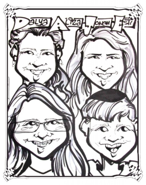 Rick Welch Party Caricature