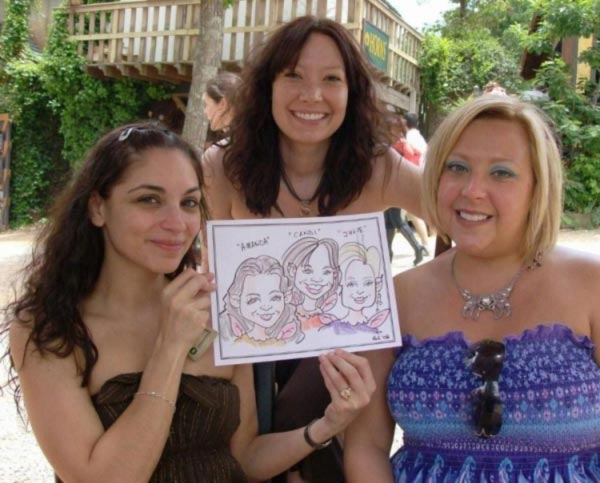 Party caricature by Bob Comeans