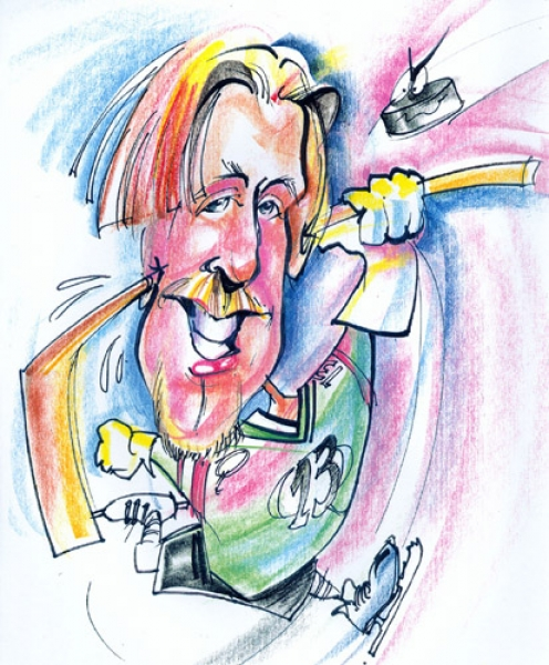 Kyle Edgell Party Caricature
