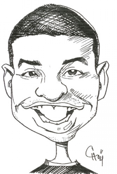 Carlos Hill Party Caricature