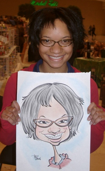 Todd Parkhill Party Caricature