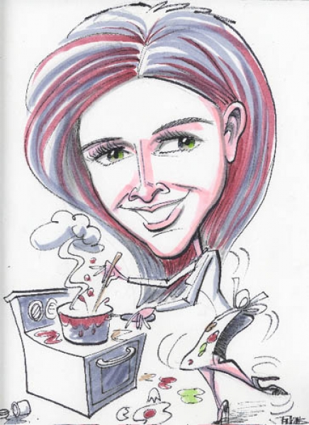 Mike Jenkins Party Caricature