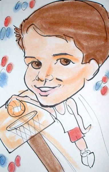 Dave Miller Party Caricature