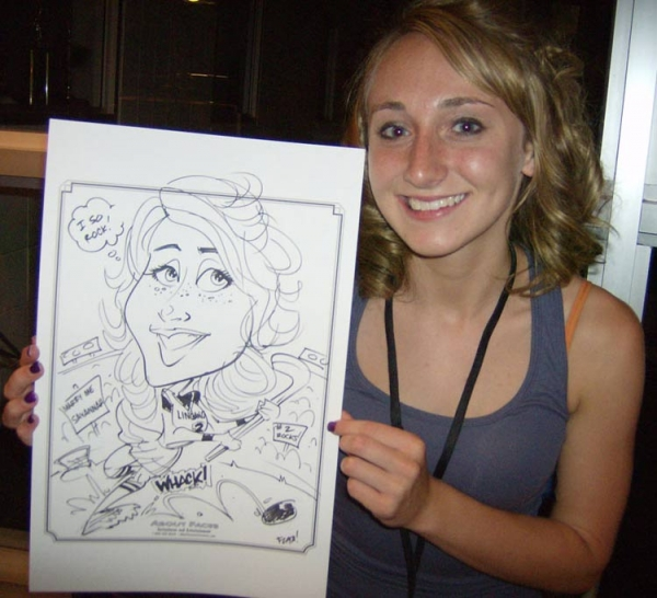 Bryan Turner Party Caricature