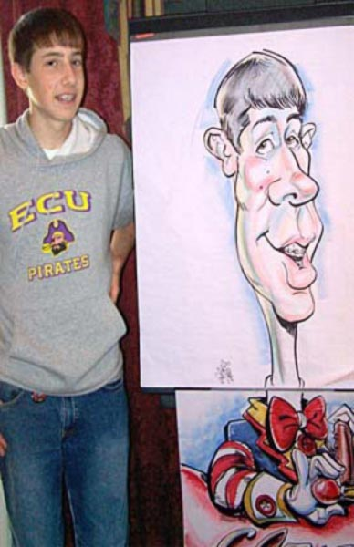 Party caricature by Angel Contreras