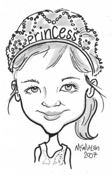 Cathy McMillan Party Caricature