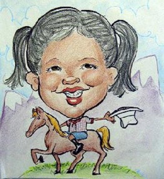 Sarah Heng Party Caricature