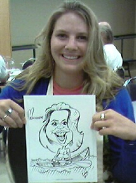 Caroline Holroyd Party Caricature