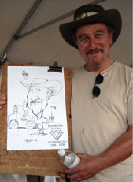 Tim Hough Party Caricature