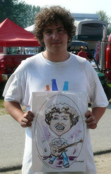 Bruce Outridge Party Caricature