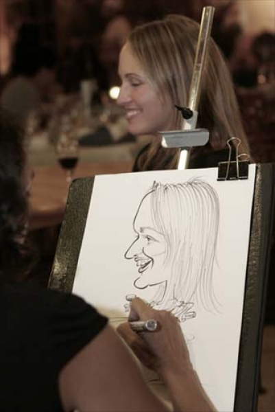 Alma Roussy Party Caricature