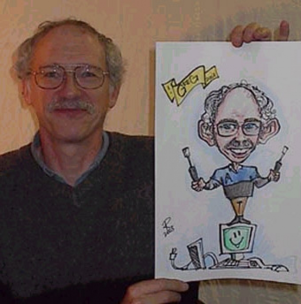 Robert Westall Party Caricature