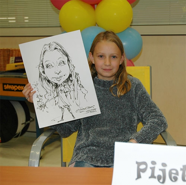 Andre Pijet Party Caricature