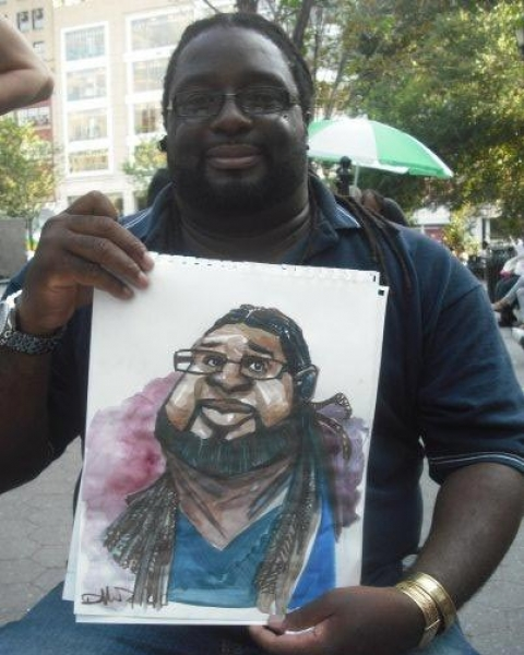 Kenly Dillard Party Caricature