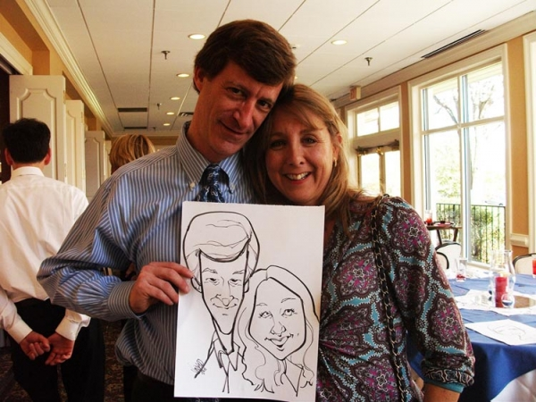 Eric Vincent Party Caricature