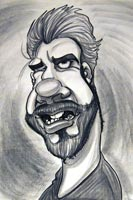 Walter Wayman Party Caricature