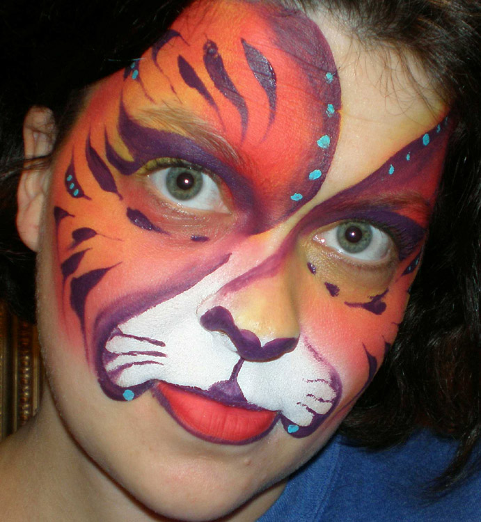 Simple Face Paints For Halloween