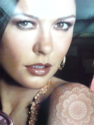catherine zeta jones and henna