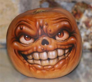 creepy pumpkin