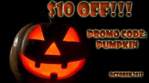 $10 off promo code: pumpkin