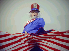 'Mr. 'Bump!' Stilt walking as Uncle Sam