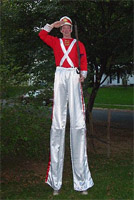 Greg May Stilt Walking as Tin Soldier
